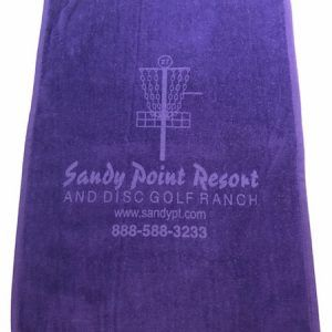 Sandy Point Resort and Disc Golf Ranch Purple Towel