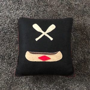 Canoe and Oars Pillow