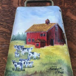 Cowbell with Painting of cows and barn