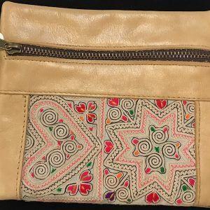 Karen Silk Camel Leather Wallet